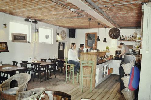 het gezellige cafe