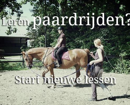 nieuwe lessen paardrijden